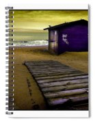 Spanish Beach Hut Spiral Notebook