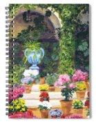 Spanish Courtyard Spiral Notebook