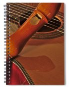Spanish Guitar And Flute Spiral Notebook