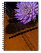 Spanish Mandolin And Dahlia Spiral Notebook