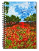 Spanish Poppies Spiral Notebook