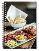 Spanish Smoked Meats Ham And Cheese Platter Starter Dish Spiral Notebook