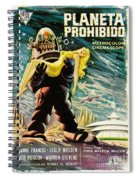 Spanish Version Of Forbidden Planet In Cinemascope Retro Classic Movie Poster Spiral Notebook
