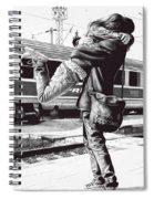 Sparkle At The Train Station - Ballpoint Pen Art Spiral Notebook