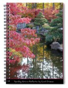 Sparkling Autumn Reflection Spiral Notebook