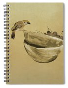 Sparrow And Bowl Of Cherries Spiral Notebook
