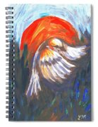 Sparrow In Flight Two Spiral Notebook
