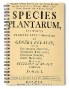 Species Plantarum, Linnaeus, 1753 Spiral Notebook