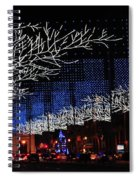 Spectacular Christmas Lighting In Madrid, Spain Spiral Notebook