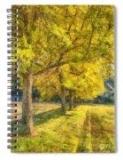 Spectacular  Fall Foliage Pencil  Spiral Notebook