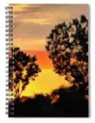 Spectacular Sunset In The Midwest Spiral Notebook