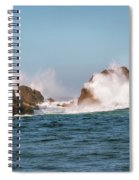 Spectacular Waves Smashing On The Rocks At Milford Sound Fjord O Spiral Notebook