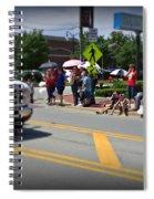 Spectators At A Parade  Spiral Notebook