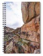 Spectral Light On The Cliffside Spiral Notebook