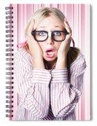 Speechless Nerd Covering Ears In Silent Shock Spiral Notebook