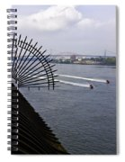 Speed Boats On The East River Spiral Notebook