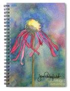 Spent Flower Spiral Notebook