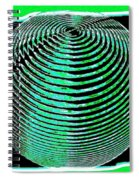 Sphere In Green Spiral Notebook