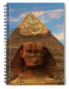 Sphinx And Pyramid Of Khafre Spiral Notebook