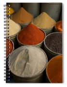Spices For Sale In Souk, Fes, Morocco Spiral Notebook