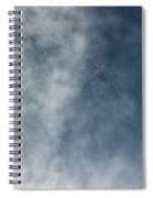 Spiderweb Against The Sky Spiral Notebook