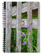 Spiderworts By The Gate Spiral Notebook