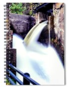 Spillway On The Canal Spiral Notebook