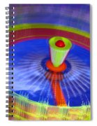 Spinning Fair Ride Spiral Notebook