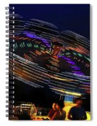Spinning Lights Spiral Notebook