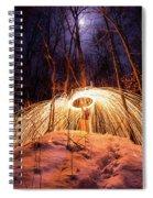 Spinning Steel Wool In Snow Spiral Notebook