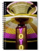 Spinning Yoyo Ride Spiral Notebook