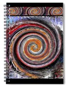 Spiral Frenzy Poster Spiral Notebook