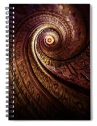 Spiral Staircase In An Old Abby Spiral Notebook