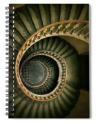 Spiral Staircase  In Green And Yellow Spiral Notebook
