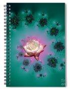 Spiral To A Rose Fractal 140 Spiral Notebook
