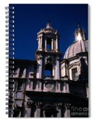 Spire And Cupola St Agnese In Agone Piazza Navona Rome Italy Spiral Notebook