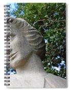 The Spirit Of Nursing Statue Up Close Spiral Notebook
