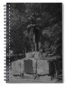 Spirit Of The Confederacy Black And White Spiral Notebook