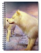 Spirit Of The White Wolf Spiral Notebook