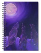 Spirits In The Night Spiral Notebook