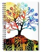 Spiritual Art - Tree Of Life Spiral Notebook