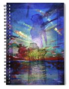 Spiritual Rising At Sunset Spiral Notebook