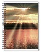 Spiritual Sunset Above A Mountain Lake Spiral Notebook