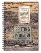Spitting Prohibited Spiral Notebook