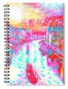 Splat In Italian Silk Spiral Notebook