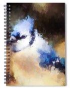 Splatter Art - Blue Jay Spiral Notebook
