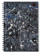 Splattered - Grey Spiral Notebook