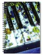 Splattered Keys Spiral Notebook
