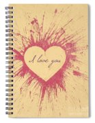 Splattered Love Spiral Notebook
