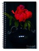 Splendid Peony In Vase. Spiral Notebook